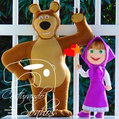 Masha e o Urso em feltro Moldes