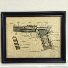 1911 gun patent framed  https://www.etsy.com/listing/204214648/framed-art-guns-colt-army-1911-gun
