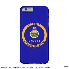 Kansas The Sunflower State Personalized Flag Barely There iPhone 6 Case