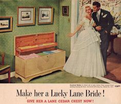 Nostalgia at its best! Who didn't want a Lane hope chest? Vintage Ads, Vintage Antiques, Vintage Style, Vintage Housewife, Lane Furniture, Sometimes I Wonder, Old Ads, Vintage Pictures, Hope Chest