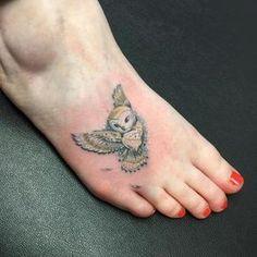 Small-Owl-Tattoo-Design-on-Foot.jpg (600×600)