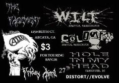 Wilt, Hole In My Head, and Colonix, April 27
