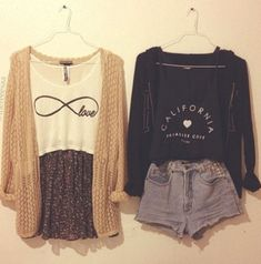 skirt cardigan fall outfits summer outfits fall outfits floral skirt infinity top black cardigan california top shorts sweater california tank top shirt pants flannel blouse t-shirt white black swag hipster boho crop tops Tumblr Outfits, Cute Fashion, Fashion Outfits, Womens Fashion, Hipster Fashion, Fashion Clothes, Fall Fashion, Fashion Ideas, Fashion Inspiration