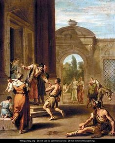 The Return Of The Prodigal Son - (after) Sebastiano Ricci