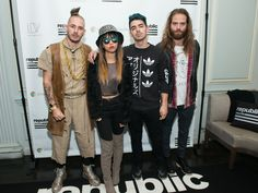 Cole Whittle, JinJoo Lee, Joe Jonas and Jack Lawless of the band DNCE attend the annual Republic Records holiday party in New York.  Noam Galai, Getty Images for Ketel One vodka
