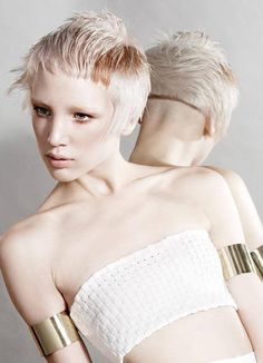 Pixie shaved in the back, short bangs and long sides. Are you gutsy enough to try this cut?