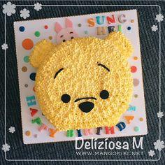 Winnie The Pooh Cake, Winnie The Pooh Birthday, Cake Decorating Videos, Cake Decorating Techniques, Pull Apart Cupcake Cake, Cupcake Cakes, Tsum Tsum Birthday Cake, Small Birthday Cakes, Disney Party Decorations