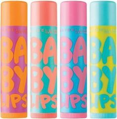 Maybelline Baby Lips - I love the two middle ones!