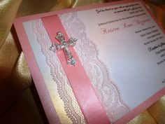 Baptism / Christening Invitation  sample Pink  by TheRainbowColors, $3.50