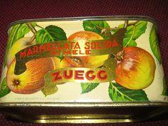 Scatola di latta marmellata di mele Zuegg