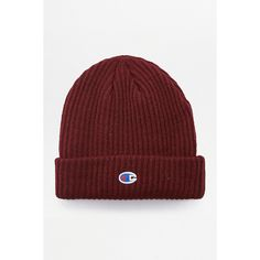 0076cc0f79a Champion Burgundy Reverse Weave Beanie ( 44) ❤ liked on Polyvore featuring  men s fashion