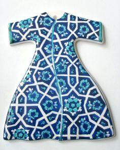 Imza Çini Ali Can Islamic Tiles, Moroccan Blue, Turkish Tiles, Kintsugi, Kimono, Short Sleeve Dresses, Turquoise, Pattern, Turkey