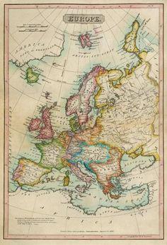 John Melish - Europe, 1820 - Fine Art Print
