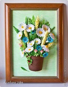 Картина панно рисунок 8 марта Выпускной День матери День рождения День семьи Квиллинг Кусочек лета Бумага фото 1