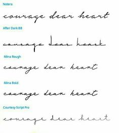 dear heart - which font? - courage dear heart – which font? – – -courage dear heart - which font? - courage dear heart – which font? – – - Personalized Notepad - Dandelion Silhouette Flowers Floral - teacher gift - choose c. Tattoo Font Styles, Cursive Tattoos, Tattoo Style, Tattoo Script, Tattoo Designs, Simple Tattoo Fonts, Different Fonts For Tattoos, Tattoo Lettering Fonts, Arabic Tattoos
