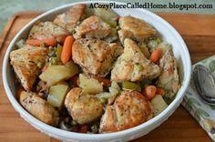 Chicken/ potato crock pot meal.