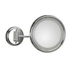 """WS Bath Collections Mirror Pure Lucciolo Magnifying Cosmetic Wall Mirror Size: 9.5"""" H x 9.5"""" W x 12.2"""" D"""