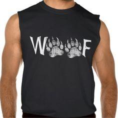Gay Bear Pride distressed Bear Paw WOOF  Sleeveless Shirt Tank Tops