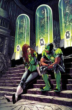Green Lanterns Simon Baz and Jessica Cruz by Robson Rocha