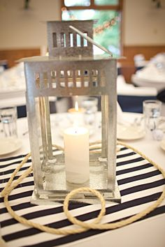 26 Unforgetable Nautical Wedding Centerpiece Ideas - Fashion and Wedding Nautical Wedding Centerpiece Ideas 6 Nautical Wedding Centerpieces, Lantern Centerpiece Wedding, Nautical Wedding Theme, Wedding Lanterns, Nautical Party, Beach Wedding Favors, Floral Wedding, Summer Wedding, Wedding Decorations
