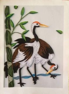 Bird Art/ Bird Art Work/ Quilling Art/ Paper Art/ farmhouse decor/ Decor/ Home/ Fish art Neli Quilling, Ideas Quilling, Paper Quilling Flowers, Quilling Work, Paper Quilling Patterns, Quilled Paper Art, Quilling Paper Craft, Quilling Images, Quilled Roses