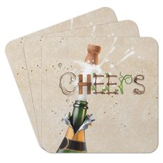 Champagne Cheers Coasters (Set of 25), Multicolor by Epic Products #Epic