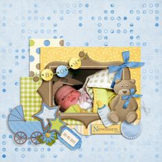 baby layouts scrapbooking | Return to Digital Scrapbooking Ideas main page