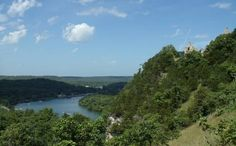 Ha Ha Tonka State Park   1491 State Rd D Camdenton, MO 65020  There's castle remains you can walk thru up top the hill!