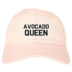 a00616f302e Avocado Queen Vegan Dad Hat Baseball Cap Pink FASHIONISGREAT https   www. amazon