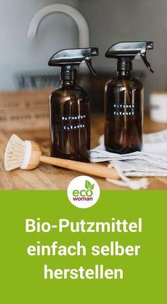 Allzweckreiniger, Kraftreiniger, Scheuermilch, Glasreiniger, Badreiniger, Hygienereiniger, Geschirrspülmittel oder Scheuerpulver – die Supermarktregale sind voll von chemischen und gesundheitsgefährdenden Saubermachern. Und die Industrie lässt sich immer neue Putzmittelvarianten einfallen. Dabei kann Putzen so einfach sein. Wir zeigen dir, wie du mit wenigen Zutaten deine eigenen biologischen Putzmittel herstellen kannst. #bioreiniger #bioputzmittel #ökoputzmittel