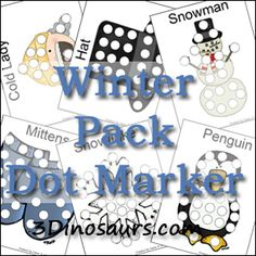 Free Winter Pack Extra: Dot Markers - 3Dinosaurs.com