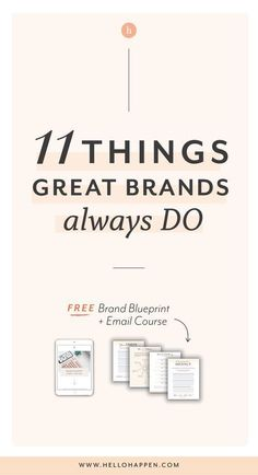 11 Things Great Brands Do – Branding your business - Design interests Social Media Branding, Branding Your Business, Personal Branding, Business Marketing, Creative Business, Business Tips, Strategy Business, Business Mission, Online Business