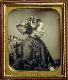 Portrait of Chinese woman Chase Sixth plate dag Peabody Museum