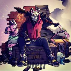 Drift (Fortnite) #driftfortnite #driftfortniteskin #season5fortnite # Fortnite #battleroyalefortnite #cats #mask #gamers