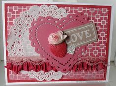 Love card using artisan kit and More Amore designer paper