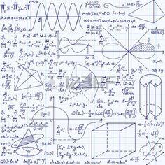 Matem�ticas vector educaci�n sin patr�n, con f�rmulas escritas a mano, tareas, parcelas, los c�lculos y las figuras geom�tricas. Textura sin fin. Matem�tica manuscrita fondo en un papel cuadriculado cuaderno photo
