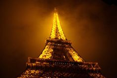 Eiffel Tower. The first time I went up the Tower, it was at night right before a storm. When we got up, it started pouring and then I realized I was trapped in the world's largest lightening rod!!