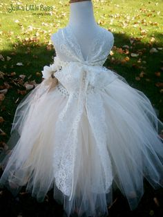 55 best flower girl dresses images on pinterest weddings lace and tulle flower girl tutu dress with straps rustic elegant champagne and ivory tulle mightylinksfo