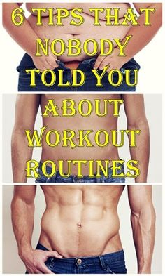 6 Tips That Nobody Told You About Workout Routines #workoutroutines #belly #weightlossclaim