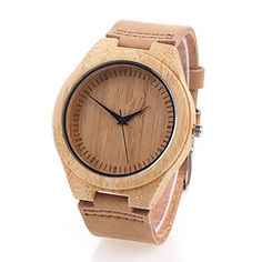YUSHOP Casual Gift Bamboo Wooden Watches for Women's Men's, Quartz Wrist Watch with Gift Box – Wooden Watches Store