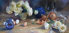 Homespun by Mary Aslin Pastel ~ 15 x 30