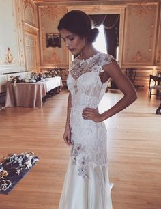 Claire Pettibone...Wow gorgeous details. Imagine this in your wedding theme. Try different fabric & embellishments combinations to fit your wedding theme. Ask your dressmaker for suggestions