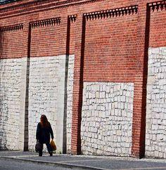 De wall near de church in Piekary Slaskie, Slaskie_ West Poland