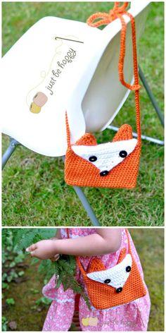 Crochet Cute Fox Purse – Free Pattern - 50 Free Crochet Fox Patterns - Crochet Fox Hat - Page 2 of 3 - DIY & Crafts Crochet Fox, Crochet Crafts, Free Crochet, Diy Crafts, Free Knitting, Knitting Patterns, Crochet Patterns, Fox Purse, Fox Hat