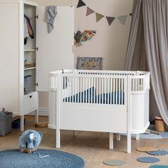 Pinie Weiß Liegefläche ca Kinderbett 70x140 cm Babybett Corner Gitterbett