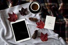 #Apple and Coffee 2  This is a high resolution photo (5616 x 3744 px) ideal for your blog iPad mockup website or to showcase your website template wordpress theme or a typography on the screen.