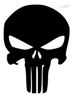 This stencil of the Punisher is on thick Mylar. Small and large size Punisher skull available. Punisher Tattoo, Punisher Skull Decal, Punisher Logo, Punisher Marvel, Punisher Cosplay, Skull Stencil, Tattoo Stencils, Stencil Art, Skull Art