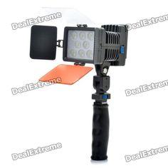 6000K 22W 1540LM 8-LED de luz blanca de la lámpara de vídeo con Filtros para cámara / videocámara SKU: 121925 (Añadido el 13/03/2012) Precio: US$  69,10 Envío: Envío Gratis A SPAIN Entrega: Normalmente se entrega de 7 a 10 días laborables