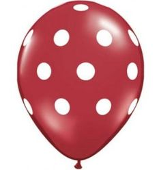 Polka Dots Latex Balloons Red