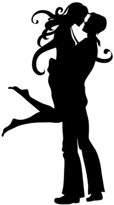 Love Couple Silhouettes Design Pictures on T Shirts and Phone Cases for Couples and Team |HICustom